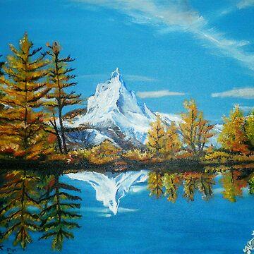 Matterhorn Mountain lake view by Nandika-Dutt