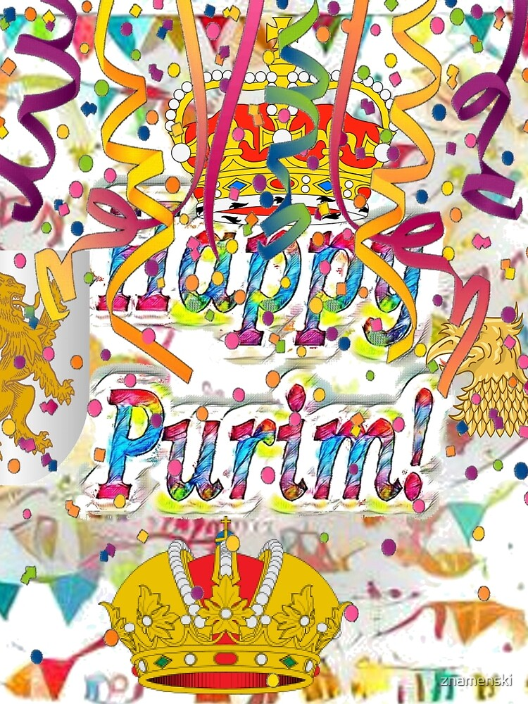 Happy Purim, happy, Purim, blessed, blest, blissful, blithe, cheerful, visual arts by znamenski