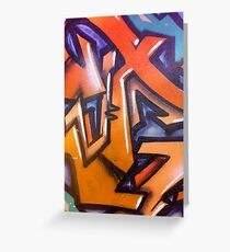 Abstract Wall Graffiti... Greeting Card