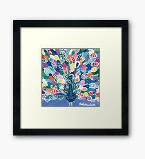 Rainbow Peacock Framed Print