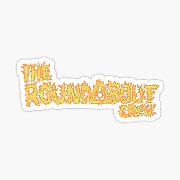 The Roundabout Crew Fire Logo Sticker