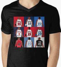 619dddb3aa2a46 Michael Jordan Grid Men s V-Neck T-Shirt