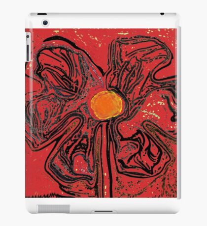 red flower power iPad Case/Skin