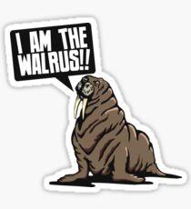 I am the walrus!! Sticker