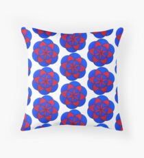 Trippy Seed Of Life - Red & Blue Floor Pillow