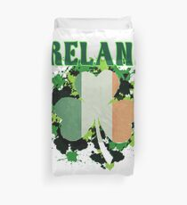 Ireland Flag Shamrock Duvet Cover