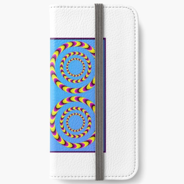 Circle optical illusion iPhone Wallet