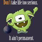 Don't Take Life Too Serious - It Is Not Permanent! by wtfun