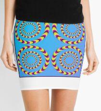 Circle optical illusion Mini Skirt