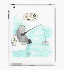 Fishing seal iPad Case/Skin