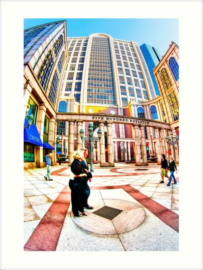 Caught In Geometry - Boylston Street in Boston by Mark Tisdale