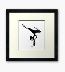 Yoga Woman Handstand Framed Print