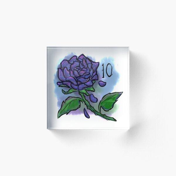 The Blue Rose Acrylic Block