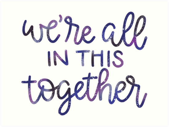 Were All In This Together High School Musical Quote Galaxy Design