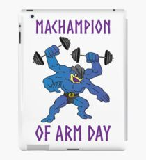 Machampion of Arm Day iPad Case/Skin