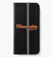 Manchester - England - Vintage Sports Typography iPhone Wallet/Case/Skin