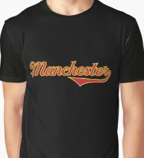 Manchester - England - Vintage Sports Typography Graphic T-Shirt