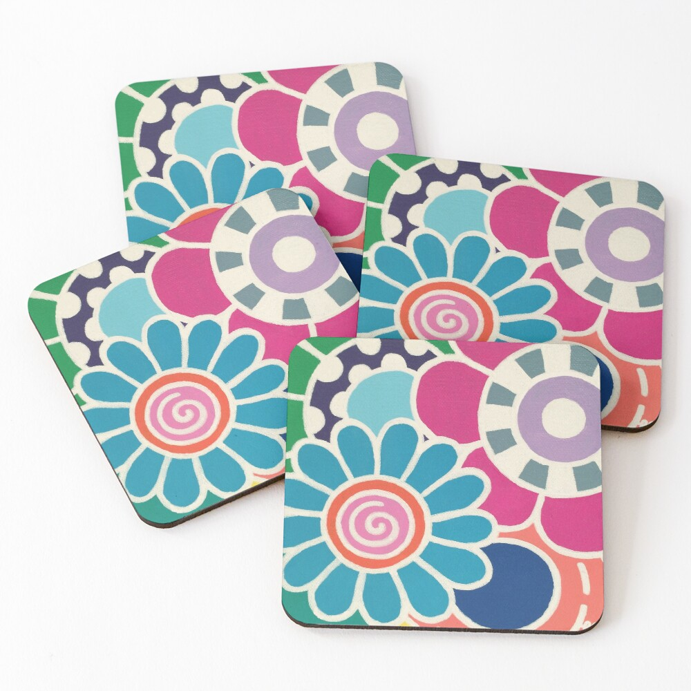 Five Blooms Coasters (Set of 4)