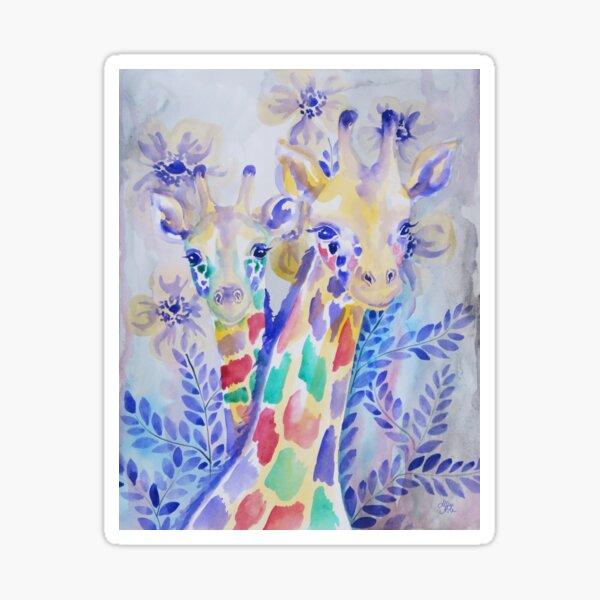 Giraffe Friends Sticker