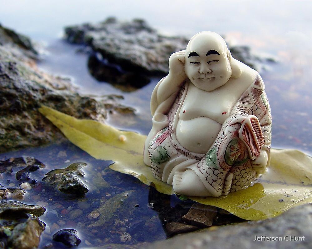River Buddha by Jefferson C Hunt