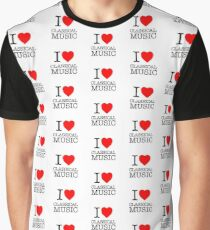 I Love Classical Music, pattern Graphic T-Shirt