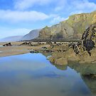Cornwall: Rock Pool Reflections at Sandymouth Bay by Rob Parsons