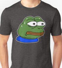 monkaS Emote - White Outline Unisex T-Shirt