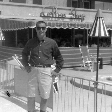Carousel Motel Poolside - Wildwood, N.J. - 1960 by MetroStore