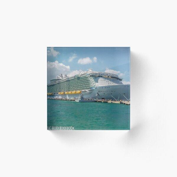 Harmony of the Seas Acrylic Block