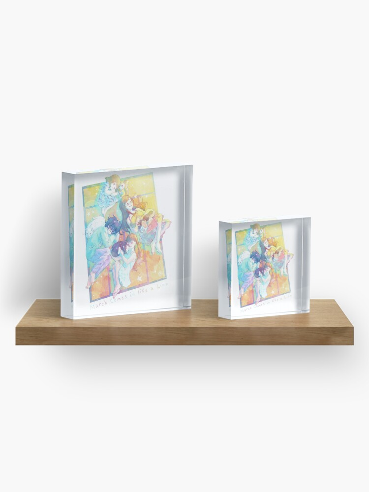 Alternate view of Sangatsu no Lion - Nap in spring Acrylic Block