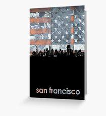San francisco skyline flag Greeting Card