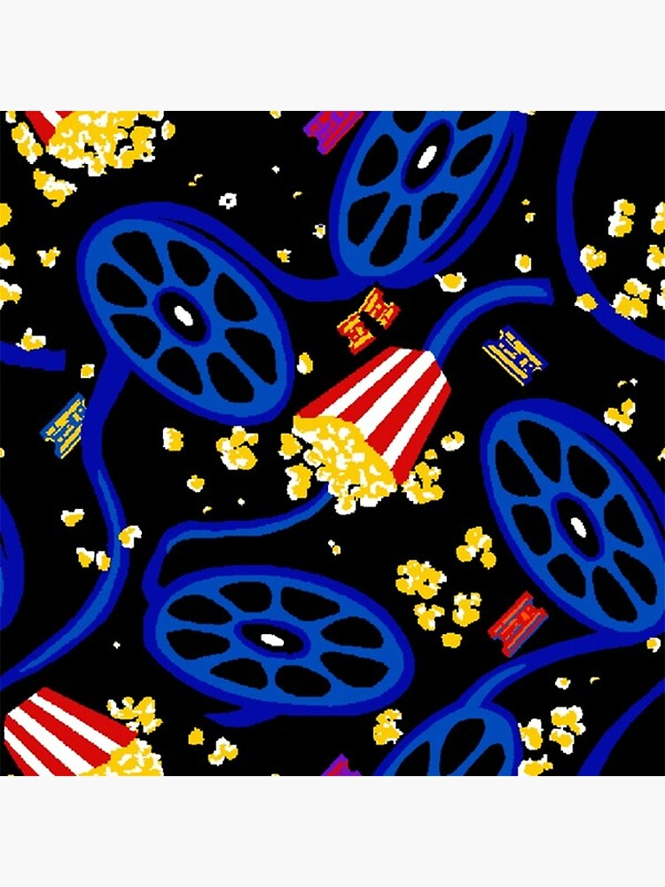 The Movie Theater Carpet Art Board Print By Scohoe Redbubble