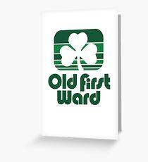 Buffalo NY St. Patrick's Day Old First Ward Greeting Card