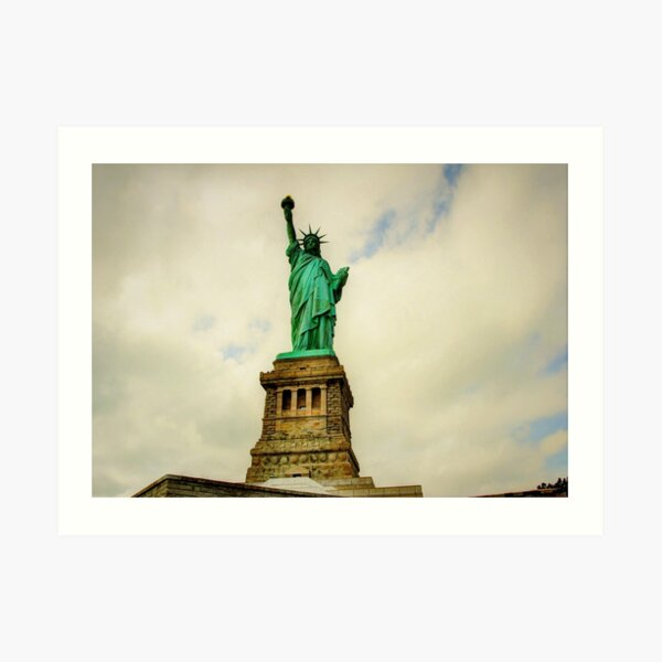 A visit with the Lady - Liberty Island Art Print