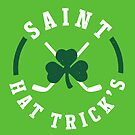 St. Patrick's Day Hockey Saint Hat Trick's Day by yelly123