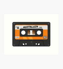 Cassette Tape - Orange Nostalgia Art Print