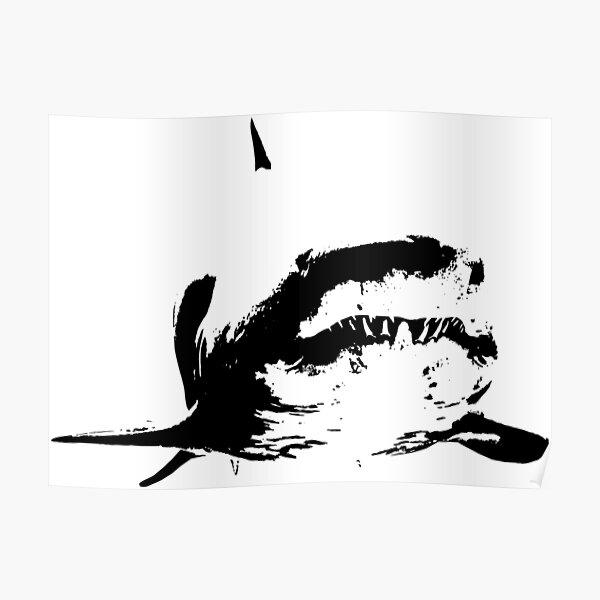 shark smiley Poster