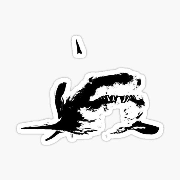 shark smiley Sticker