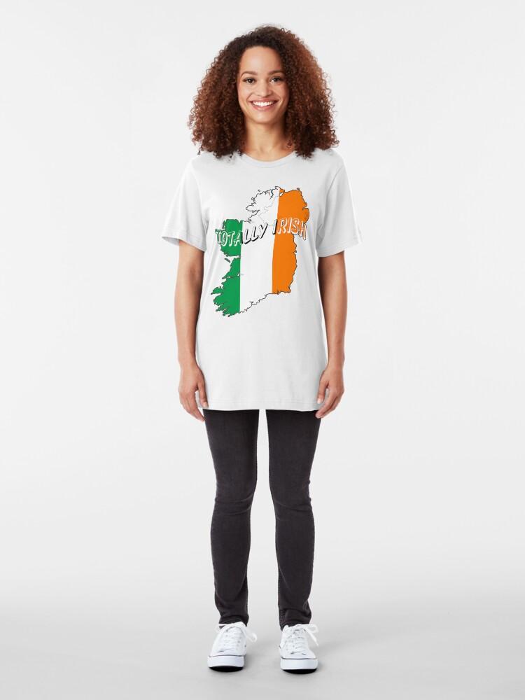 Alternate view of Totally Irish St. Patrick's Day Wearable Art Slim Fit T-Shirt
