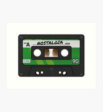 Cassette Tape - Green Nostalgia Art Print