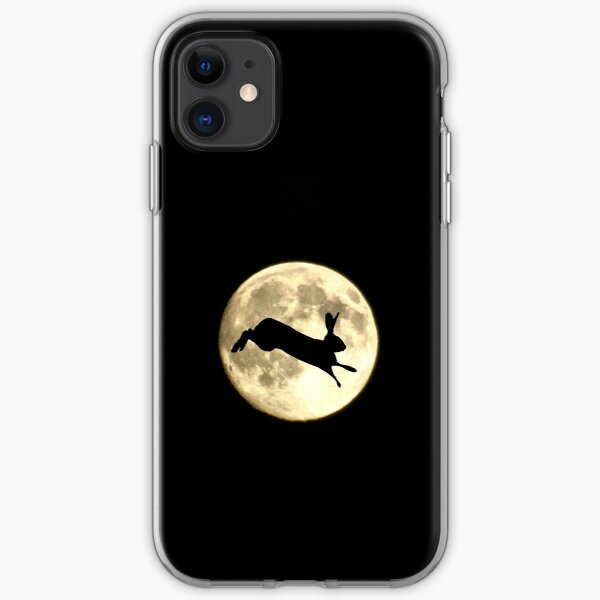 Hare and Moon iPhone Soft Case