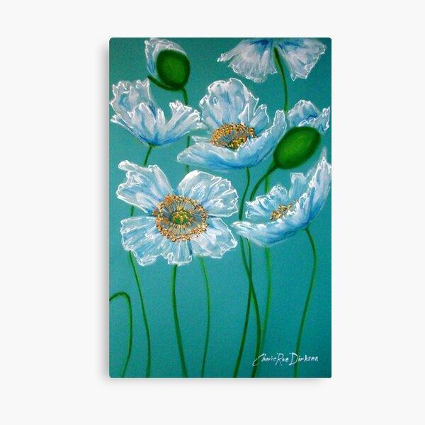White Poppies Canvas Print