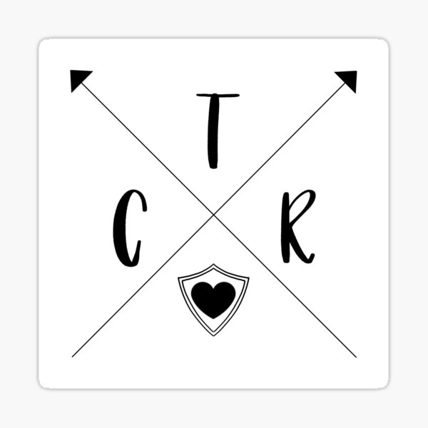 CTR Arrows - Choose The Right Full Sticker Sticker