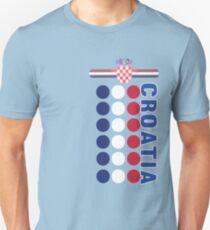 Kroatische National Deluxe Flagge Punkte Jersey Stil Slim Fit T-Shirt