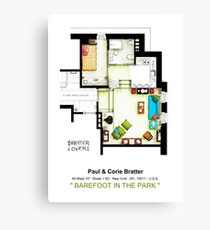"Floorplan of the apt from ""Barefoot in the Park"" Canvas Print"