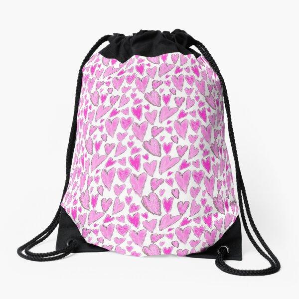 Lots of Hearts Drawstring Bag