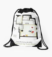 BAREFOOT IN THE PARK - (Almost) Empty apartment Drawstring Bag