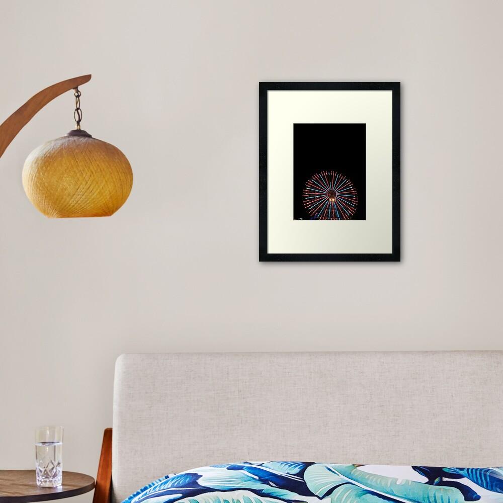 Yokohama Wheel Framed Art Print