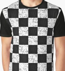 Detailed Checkerboard Graphic T-Shirt
