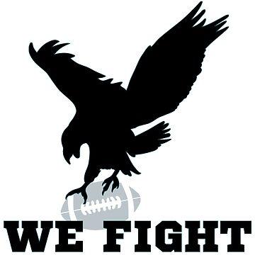 We Fight Football Philly Eagles Fan Sports Hoodie by infinitedrifter